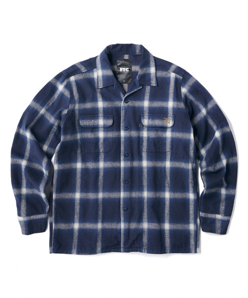FTC (エフティーシー) /  FTC x TG OMBRE PLAID SHIRT -BLUE-