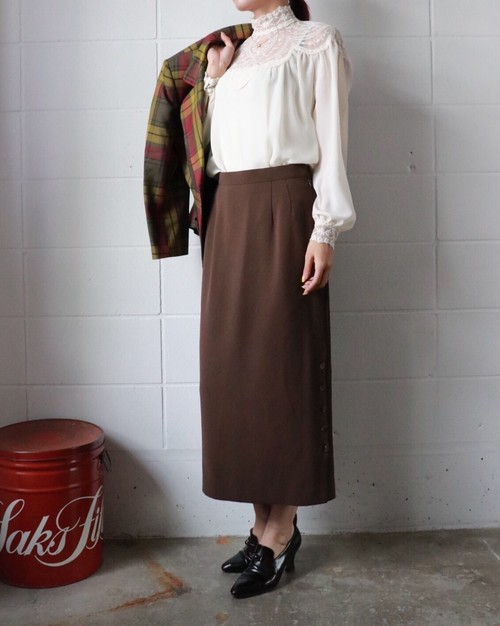 pierre cardin brown skirt