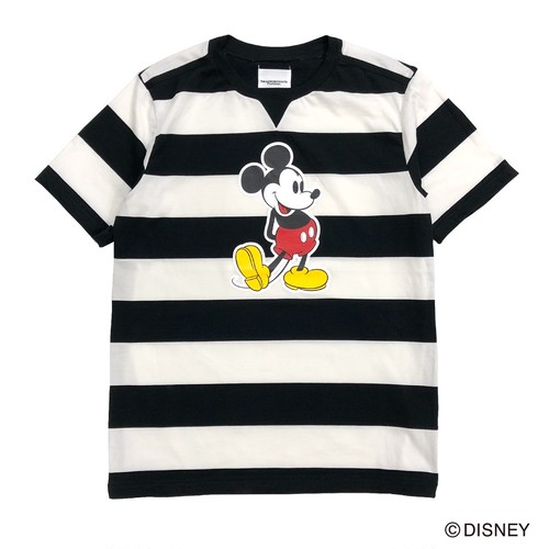 sc.0099aSS20 Mickey Mouse crew neck s/s striped tee. (7cm × 7cm)