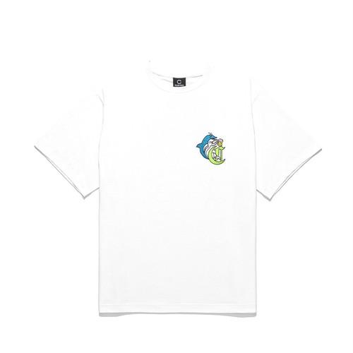 CLOTTEE DOLPHIN S/S TEE / WHITE