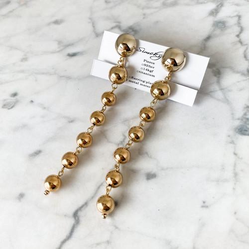 E-54 pierce/earring(gold)