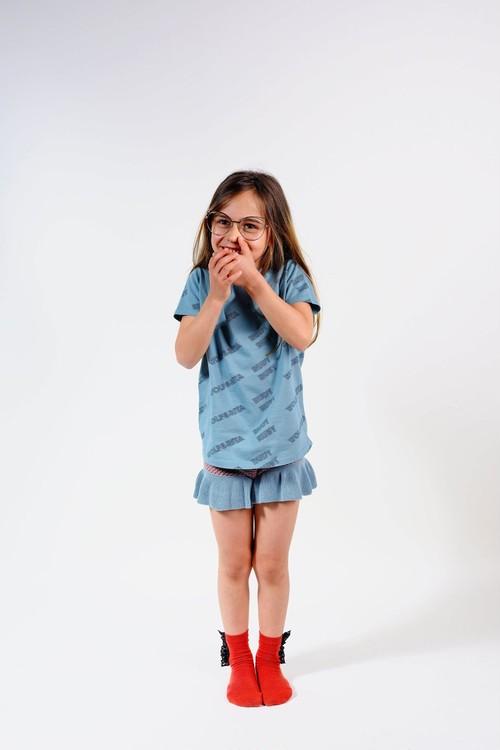 WOLF & RITA ウルフ&リタ SEBASTIÃO - T SHIRT RUDY RUBY BLUE size:2Y(90-100)-10Y(135-145)