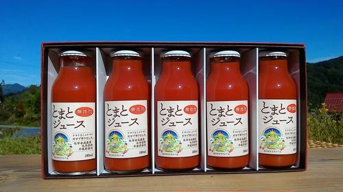 贈答用に!完熟の旨味!トマトジュース180ml 糖度8以上!! 有機トマト&ミニトマト