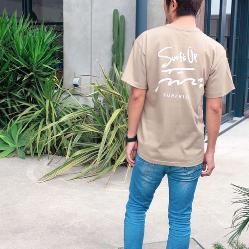 Surf's Up Tee - Sand khaki