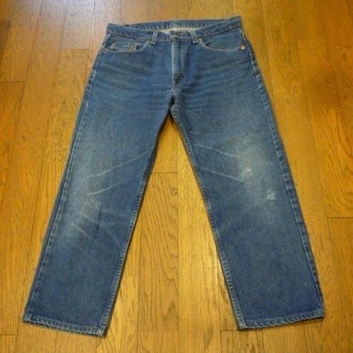 【送料無料】古着のLevi's505-0217 (34) ハイウエスト ストレートジーンズ