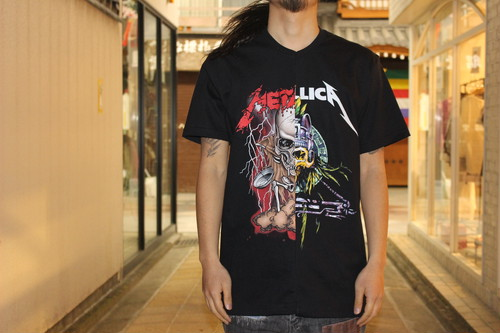 (Metallica) Remake Band T-Shirt Half & Half / TRIANGLE