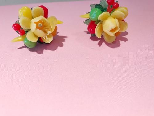 """Travelling Madeleine - earring - """" 8 fruit  """""""