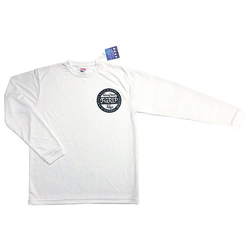 シルキータッチドライロングスリーブ ロゴTシャツ(ホワイト)