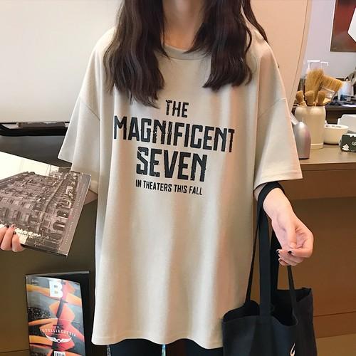 【トップス】ins超ヒット韓国風ゆったり快適な短袖Tシャツ