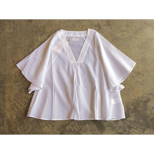 SOIL(ソイル)SUPER FINE VOILE WITH POLY SELVAGE PULLOVER TUNIC