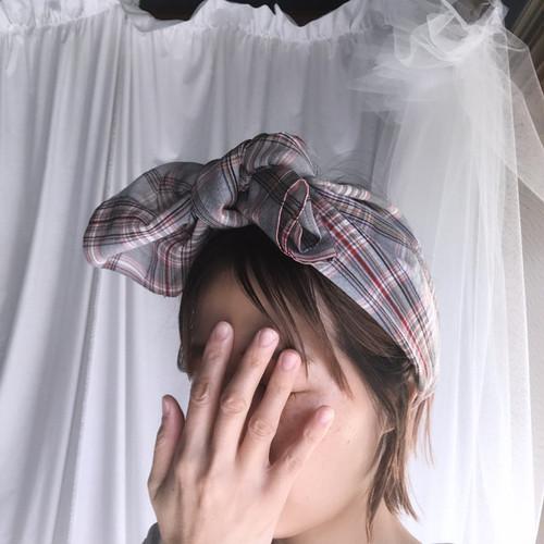 KIAM  nomin no musume hairband graycheck