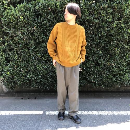 "YASHIKI 2019 AW  ""Arare Knit""  MUSTARD"