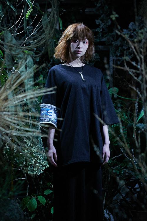 腕章Tシャツ ブラック