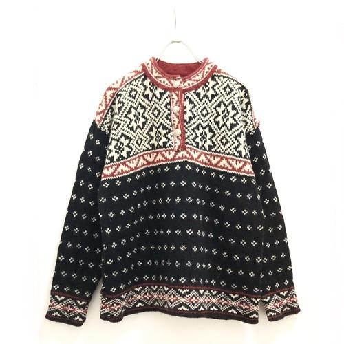 """L.L.Bean"" Nordic Knit Pullover / ノルディック柄ウールニットプルオーバー"