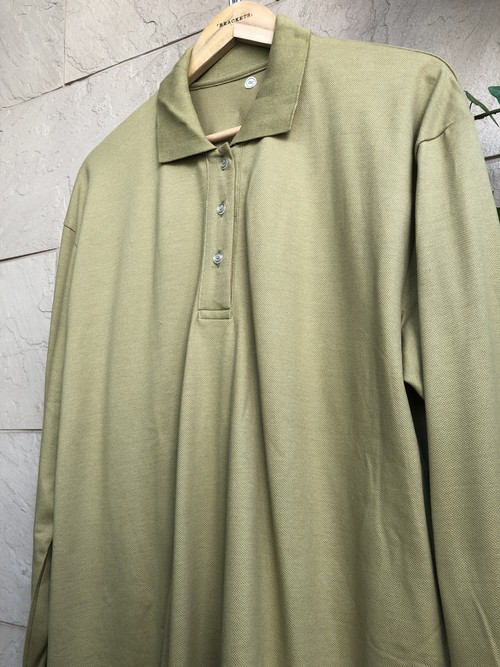 Deadstock German military L/S cotton polo shirts