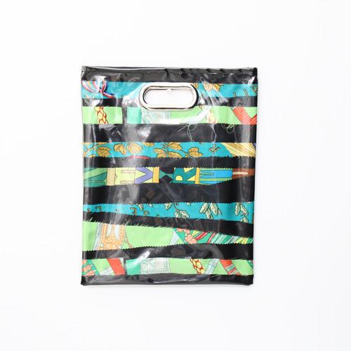 【一点もの】No.316  スカーフで作ったPVCクラッチバッグ