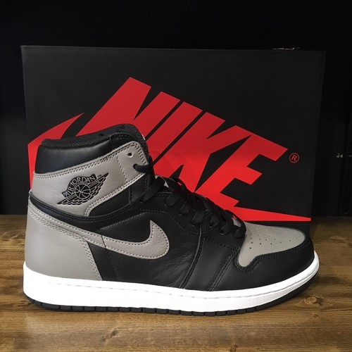 【NIKE】AIRJORDAN1 RETRO HIGH OG SHADOW BLACK/MEDIUM GREY-WHITE (555088-013)