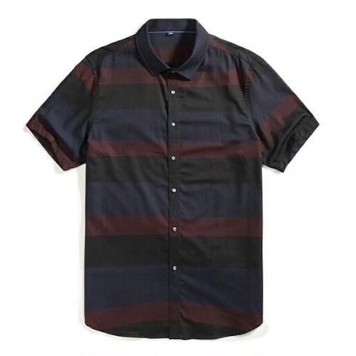 送料無料大きいサイズスーツコーデマルチカラーボーダーワイシャツ