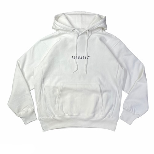 SOLID HOODED SWEAT SHIRT [WHITE]