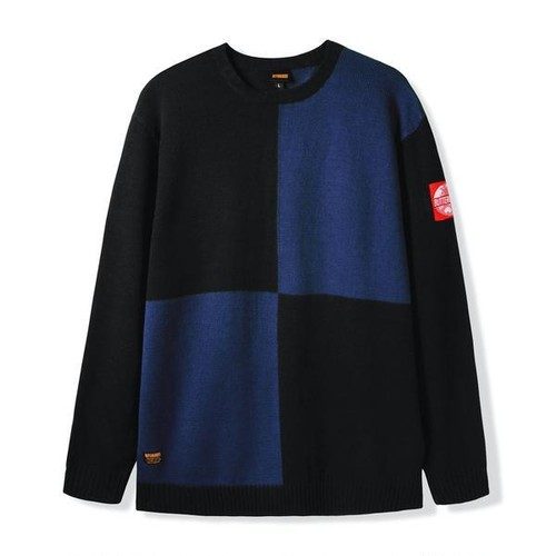 BUTTER GOODS 【CHESS KNITTED SWEATER】