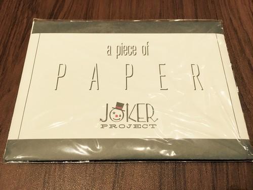 a piece of PAPER 制作:JOKER PROJECT