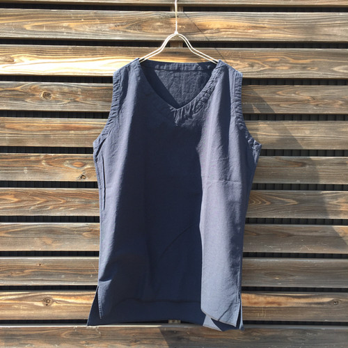 The Sakaki thebang Vneck n/s navy