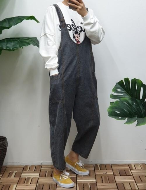 ソルトオーバーオール オーバーオール 韓国ファッション