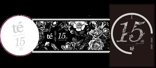 【te'】15周年グッズ – ステッカーセット(3枚)