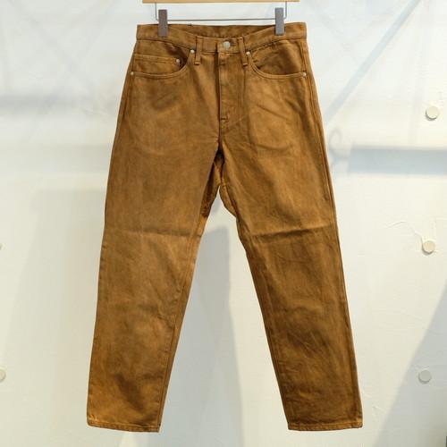 KUON(クオン) 裂き織りパッチ・奄美大島泥染5ポケットパンツ