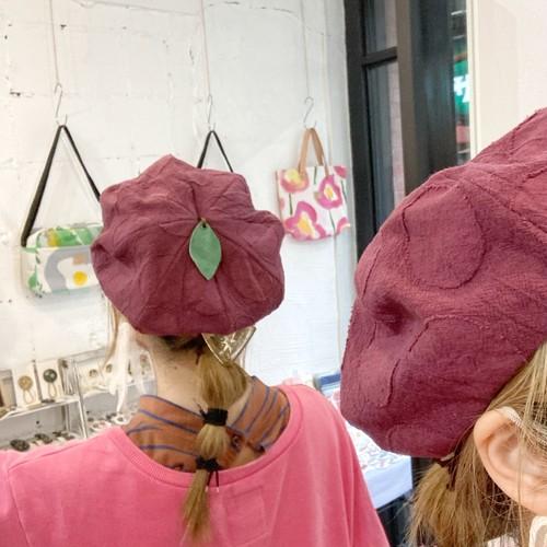 【LuLu de chapeau】アップルベレー帽(レッド)
