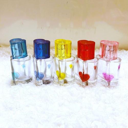 ガラス製香水容器(ハート)