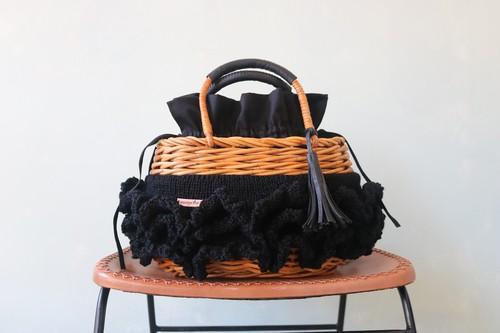 アシュケ カゴバッグ dress ratan ブラック