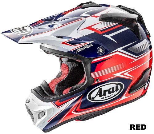 ARAI V-cross4 SLY red