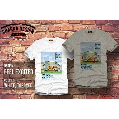 Feel excited Art Printing T-Shirts