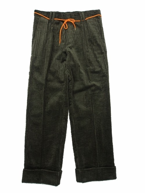 WIDE WALL CORDS PANTS OD