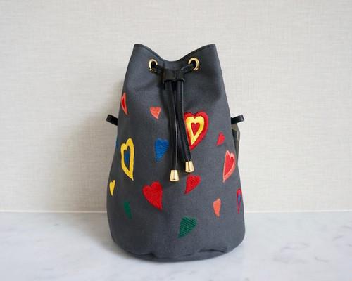 【着せ替え用】TORICAGO専用内袋(刺繍:ハート、金具:ゴールド)