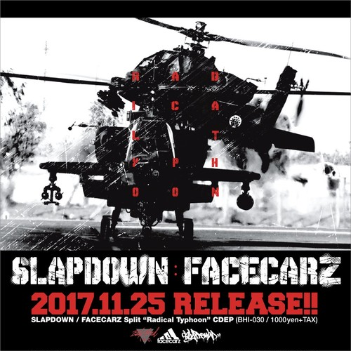 FACECARZ / SLAPDOWN●radical typhoon (split CD)