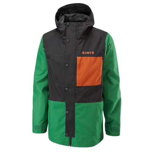 Nass Jacket	Hunter Green/Black/Paprika