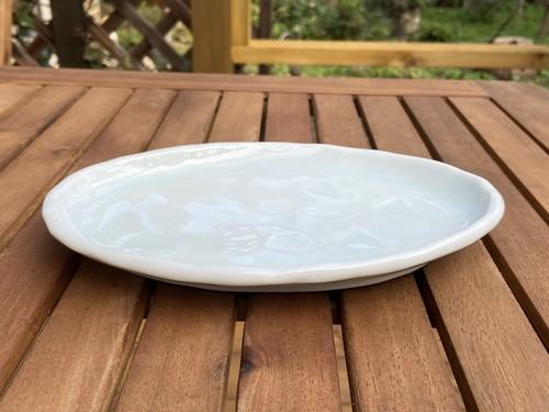 青白磁楕円皿