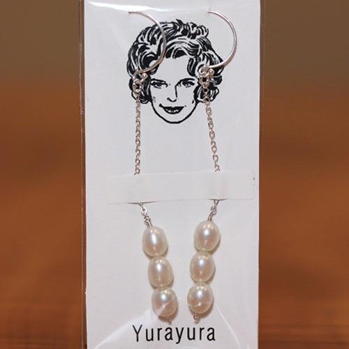 Yurayura 天然石ピアス