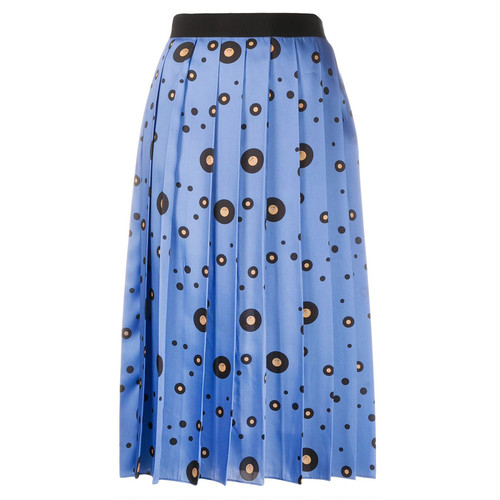 VVB   record skirt    FRESH BLUE
