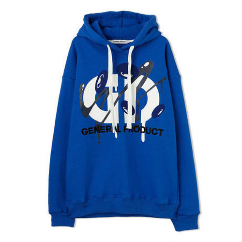 GENERAL PRODUCT × COIN PARKING DELIVERY Logo Hoodie BLUE