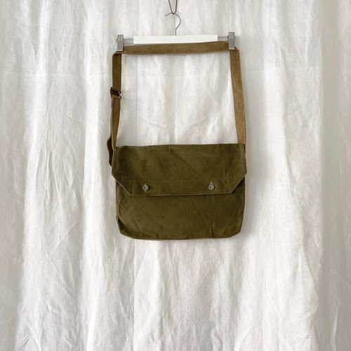 """FRANCE 30s〜40s vintage""""FRENCH ARMY""""cotton canvas musette(bread bag) 2"""