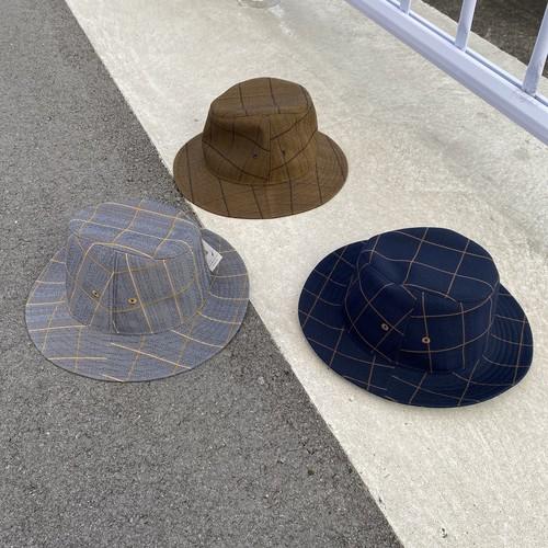 【水野ミリナー】チェック柄マニッシュハット 62-9205