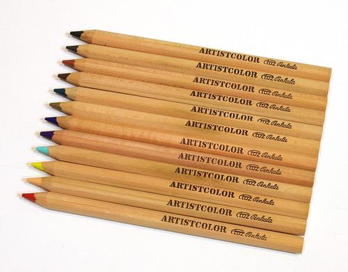 【新品】TOZ Penkala トーズペンカラ/色鉛筆 ARTIST COLOR 12本セット