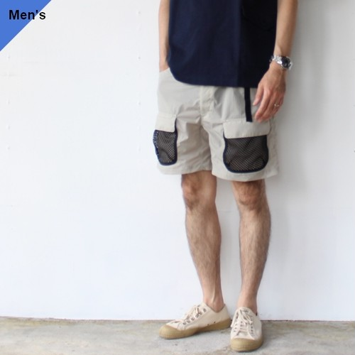 【ラスト1点】ENDS and MEANS エンズアンドミーンズ Utility Shorts EM-ST-P09 (Light gray)