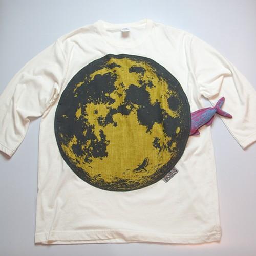 十三夜の7分丈Tシャツ(ヴィンテージホワイト)