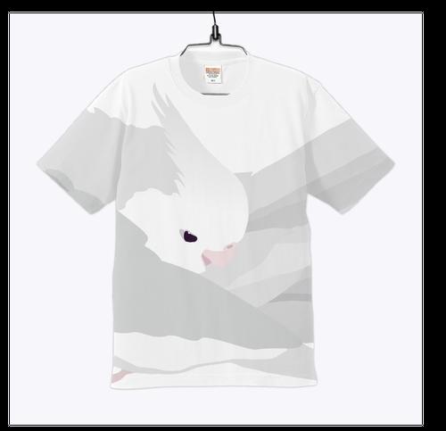 もふもふオカメインコ ホワイトフェイスTシャツ