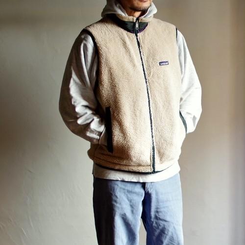 1997 Patagonia Retro X Fleece Vest / 90年代 パタゴニア レトロ X フリース ナチュラル ハンター 初期タイプ