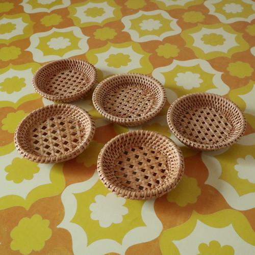 竹製の茶托 5枚セット 昭和レトロ